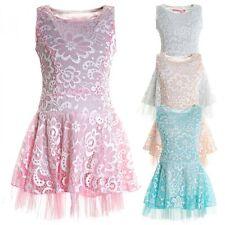 Markenlose ärmellose knielange Mädchenkleider
