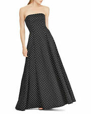 Lauren Ralph Lauren Women's Taranne Polka-Dot Fit & Flare Dress Black Size 8
