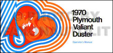 1970 Plymouth Valiant and Duster Owners Manual 70 Owner Operator Guide Book