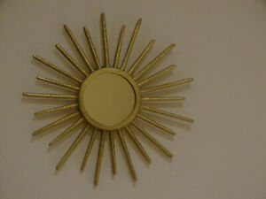 Star Sun Deco Mirror Wall Mirror Gold Coloured DM 8 11/16in