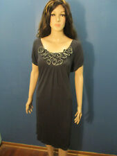 XL dark gray stretchy dress by FOREVER - unique ZIPPER bust decoration