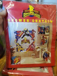 "1994 OG Mighty Morphin Power Rangers Shower Curtain - 70"" x 72"""