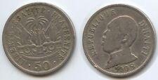 G2776 - Haiti 50 Centavos 1908 KM#56 General Pierre Nord-Alexis Haïti