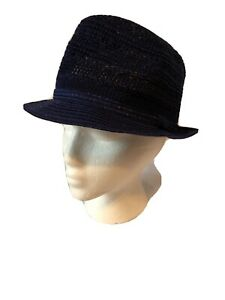Collection Eighteen 18 Hat OS One Sz Blue Stew  Fedora Adjustable Ban Packable