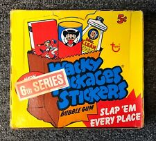 1974 RARE Topps Wacky Packages 6th Series FULL Yellow BOX with 48 Blue Packs