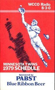 1979 MINNESOTA TWINS MAJOR LEAGUE BASEBALL SEASON POCKET SCHEDULE - PABST