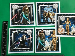 Set of 5 handmade star wars themed birthday card toppers