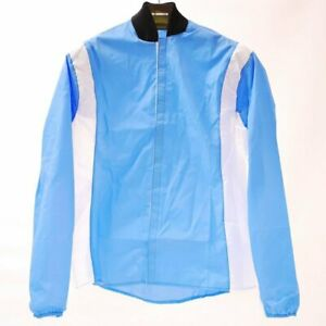 Original RETRO cycling jacket 100% NYLON Made in ITALY - BLUE | ROAD | SIZE:M