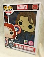 SDCC 2015 EXCLUSION POP! TEES MARVEL BLACK WIDOW WOMEN T-SHIRT LE 500pcs xxl 2xl