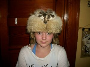 BEAUTIFUL NEW BADGER Fur Hat mountainman UNISEX FOUR FEET CLAWS FACE rendezvous