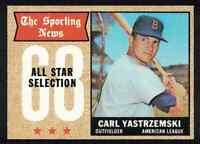 1968 Topps Carl Yastrzemski All-Star NM Boston Red Sox #369