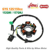 TZ-09A 125cc 150cc Stator 6 Pole AC Magneto Coil GY6 Parts Chinese Scooter