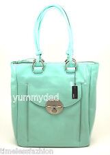 Mimco Turnlock SHOPPER Tote Bag Seafoam Patent