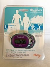 New Fitbug Pedometer Online Tracking Movement Motivation Vitality Clip On Purple
