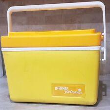 Vintage Thermos Sunpacker Cooler Yellow Orange Model 7713 11 Quart Vtg Handle