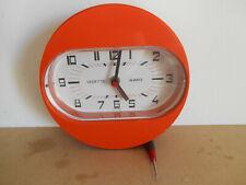 horloge pendule vedette quartz 70's  vintage clock