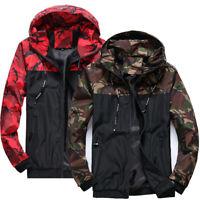 Jacket Camouflage Hooded Army Men Sport Coat Windbreaker Rain Outwear Waterproof