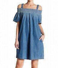 218 NWOT Current Elliott Madeline Denim Dress Sz 1 or S ~ Perfectly Chic! 8b0c8a29e
