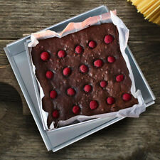 Square 9'' Aluminum Alloy Cake Pan Removable Bottom Food Bake Mold Bakeware
