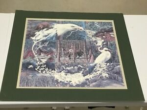 Bev Doolittle signed SN Sacred Circle Beautifully Indian riding Horse Forest Art