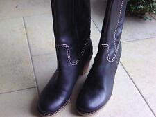 NEU Gabor Echt Leder Stiefel M Varioschaft Blockabsatz 8 cm, schwarz Gr. 38,5/ 5