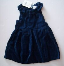 NWT Janie and Jack Lavish & Luxe 3-6 Months Blue Velveteen Holiday Dress