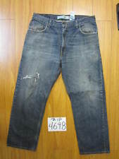 Levi blue destroyed jean used 559 relaxed straight tag 36x30 zip4698