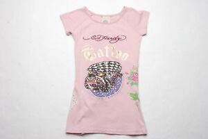 Ed Hardy Bulldog Rhinestones Tunic (6 years) Pink