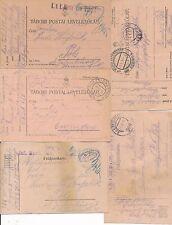 NR.9990 5 Belege  K.u.K..Feldpost  220 369,386 Lesch Albanien Insonzo Südtirol