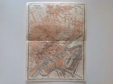 Stettin, Germany, 1913 Antique Map, Original Wagner & Debes, Atlas