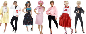 Grease Costume Ladies Mens Fancy Dress Outfit 1950s Licensed Grease Outfit T Bir