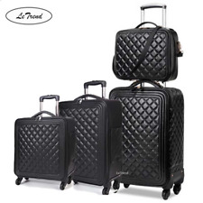"""16""""20""""24"""" Luxury trolley carry on travel suitcase pu leather rolling luggage set"""