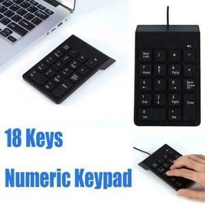 Mini 18 Keys Numeric Keypad Wireless/Wired Number Pad Keyboard for Mc Laptop PC