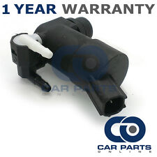 FOR FORD FOCUS MK2 (2004-2015) FRONT & REAR TWIN OUTLET WINDSCREEN WASHER PUMP