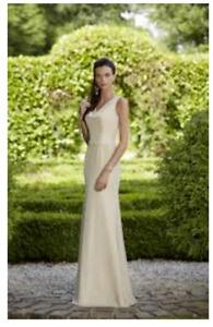 stunning Ronald joyce LATTE bridesmaid/ bridal gown size 10