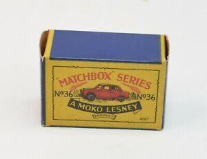 Matchbox Lesney No 36 Austin A50 Original Box Only.