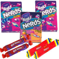 Wonka Nerd Lollies Show Bag Allens Red Skins Milko Bulk Lollies Favours Showbag