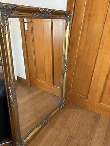 Extra Large vintage gilt gold ornate framed mirror 104cm X 74cm