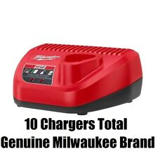 LOT OF 10 NEW Milwaukee 48-59-2401 M12 Li-Ion Red Lithium 12V  Battery Chargers