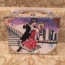 Braciano Fine Cigar Box Dancing Couple Purse Bag
