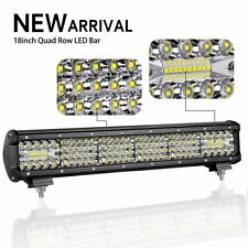 18 Inch Triple Quad Row Off Road Light Bar for Truck Offroad 4x4 ATV UTV Boat