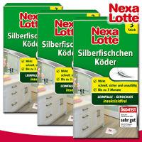 Substral Nexa Lotte 3 x 3 Stück Silberfischchen Köder | Silberfisch Falle