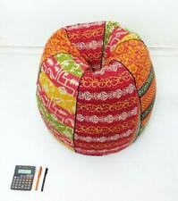 Handmade Quilted Cotton Floral Bohemian Bean Bag Slipcover and insert BB85