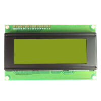 LCD 20x4 Display Green/Yellow 2004 optional header ideal for Arduino Rasp Pi UK