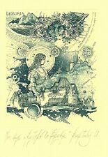 Exlibris Etching Bookmark: Kvartalny