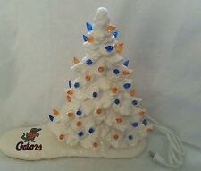 Ceramic Christmas TreeLight/Great Piece Made from a Vintage mold FLA. GATORS..