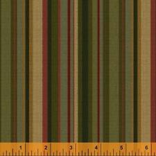 Windham Kensington FLANNEL Red Brick Green Yellow Gold Stripe Quilt FabricYard