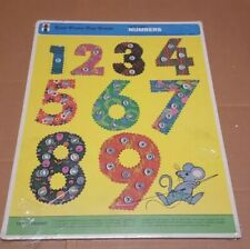 Easy Frame Sewing Tray Puzzle Let's Learn Numbers 1971 Vintage
