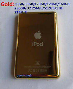 Gold 160GB/256GB/512GB/1T Customizing Metal Back Cover for Ipod classic video