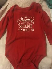 Nwot Carter's Christmas Red Bodysuit Size 18 Months Unisex